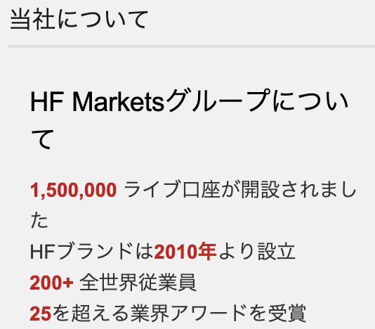 hotforexのアカウント数