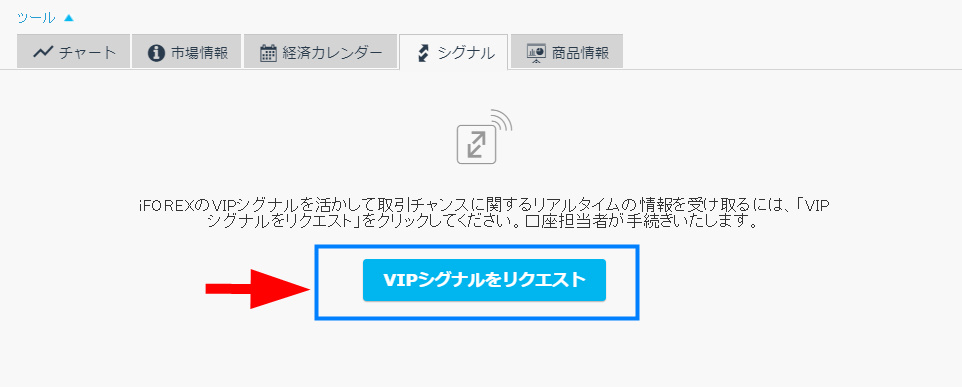 iFOREXのvipシグナル申請