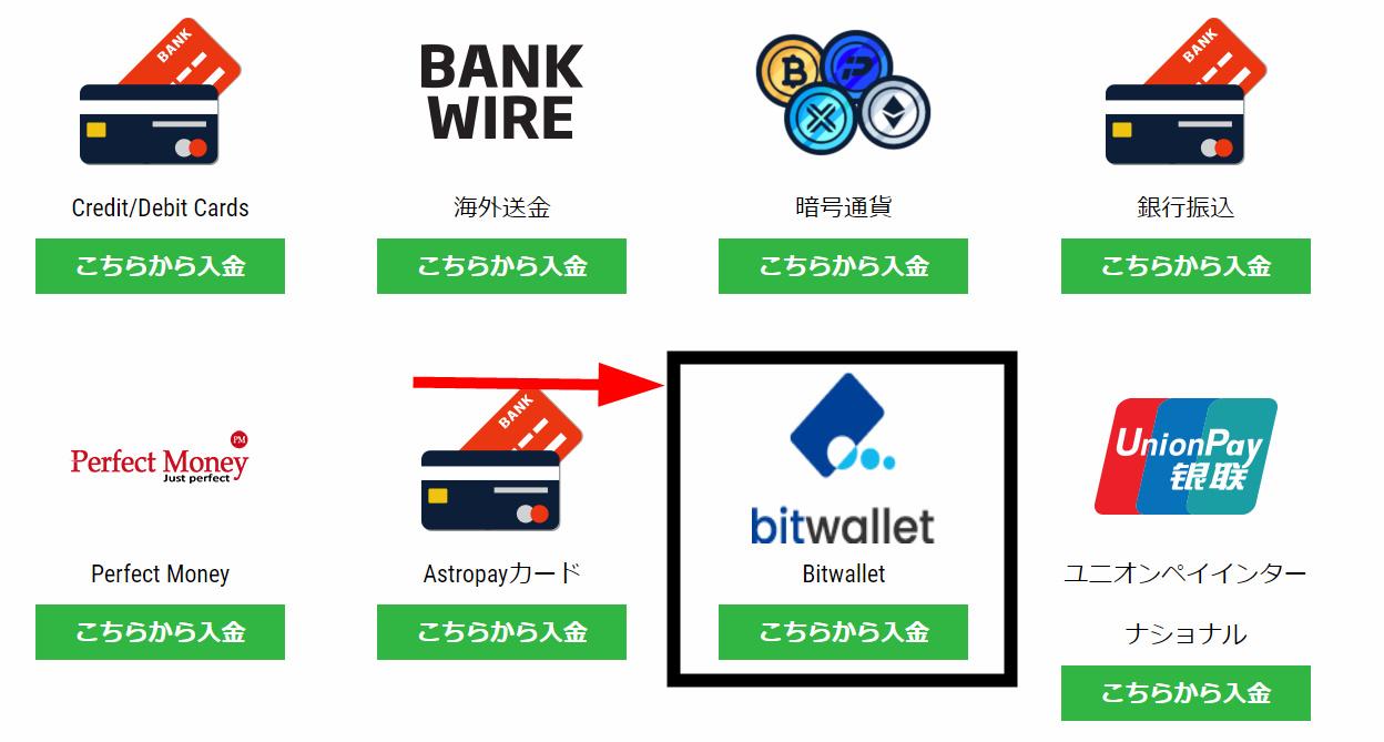 Ironfx Bitwallet入金1